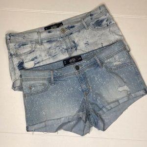 Hollister Acid Wash Denim Jean Short Size 11
